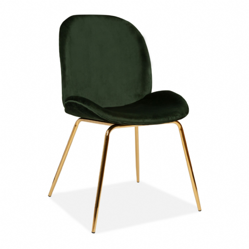 x2 Mmilo Journey Chair with Green Seat and Gold Legs